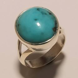 Sterling Silver Turquoise Ring 8.47
