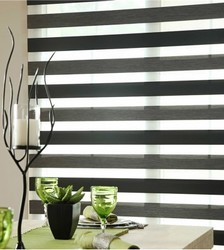 Black and White Douglas Blind