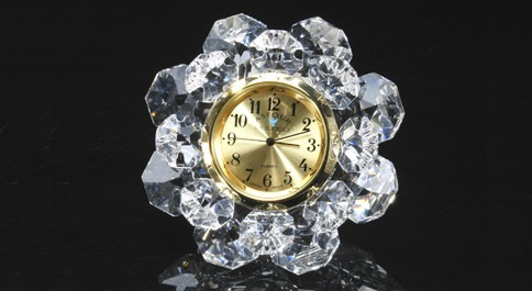 Asfour Crystal Rose Clock Manufacturer From Kolkata