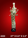 Shriji Ivory Statue, Packaging Type: White Corrugated Box, Size: 27 X 6.5 X 3.5