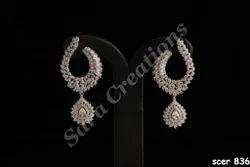 Unique Diamond Earrings ह र क ब ल In Khraker Navi Mumbai Sara Creations Id 4964213988