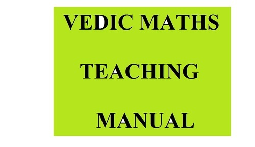 vedic maths teaching manual  all levels  vedic maths  hiranya  vedic maths teaching manual  all levels
