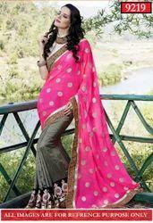 Neon Pink Saree