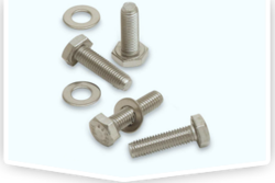 Silver Mild Steel Metal Bolts, For Industrial, Depend Upon Size
