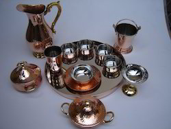 Copper Hammered Set
