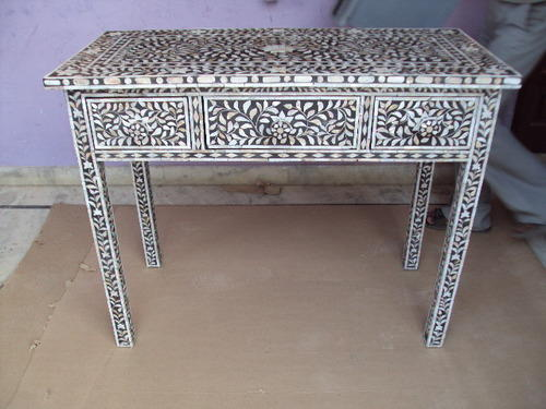 bone inlay desk mother of pearl inlay drawer writing desk desk rs 21000 piece id