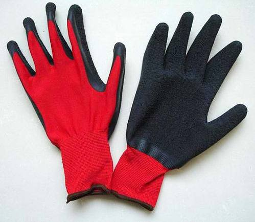 Hand Protection Gloves Crinkle Latex Coated Glove