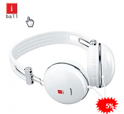 iBall Clarity Headset Hip Hop White