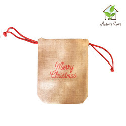 Jute Christmas Gift Pouch