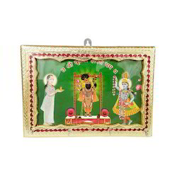 Shrinathji Framed Meenakari 4-Key Holder