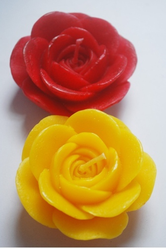 rose shape floating candles view specifications details of