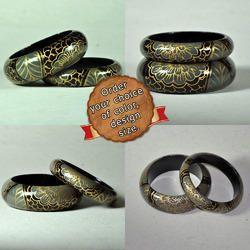 Designer Handmade Hand Painted Wooden Bangles Bracelets
