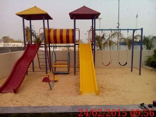 Double Slide Outdoor Play Set