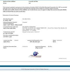MCD Certificate