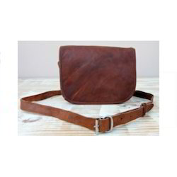 Landscape Vintage Leather Flap Saddle Bag