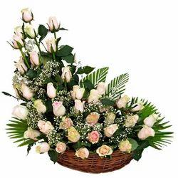 Lasting Romance Flower Basket