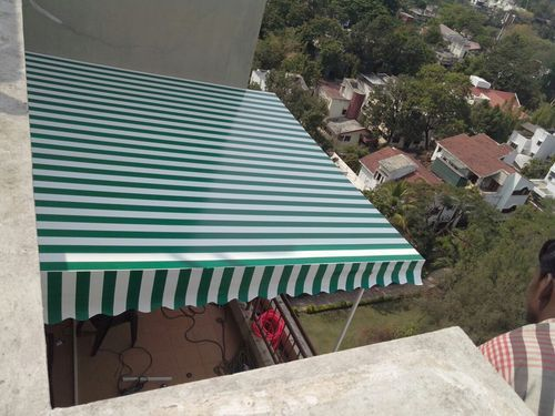 Pvc Fabric Striped Fixed Frame Awning Rs 130 Square Feet