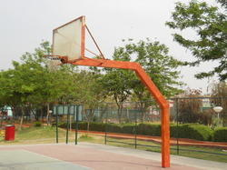 Fixed White Uma-902 Basketball Pole