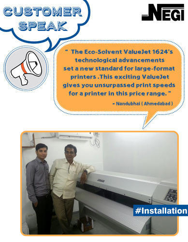 Successfully Installed Mutoh Valuejet 1624 Eco Solvent Printer