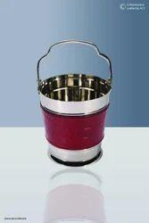 Mini  Leather Ice Bucket