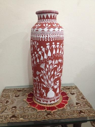 Warli Painting Warli Painted Terracotta Pots Manufacturer From
