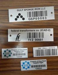 Aluminum Barcode Stickers.