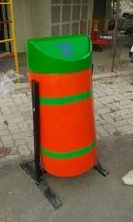 FRP Round Movable Dustbin