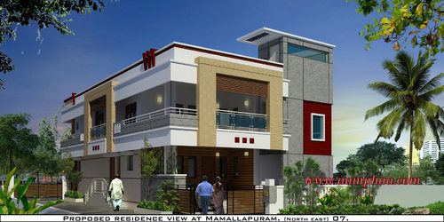 Independent House Exterior Designs In Koyambedu Chennai