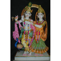 Colourful Marble Jugal Radha Krishna Statue