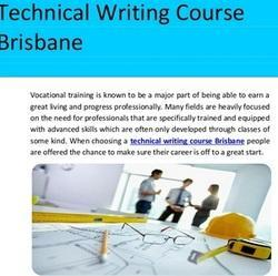technical writing courses in bangalore