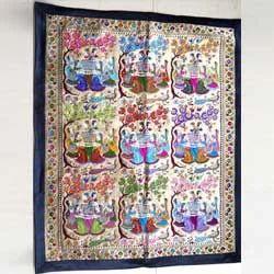 Lord Krishna Rasleela Tapestry