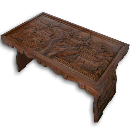 Genial Carved Wooden Table