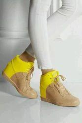 Yellow And Cream Shoe