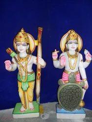 Marble Dashavatar Statue
