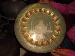 Matt Single Brass Artistic Plate, For decoration