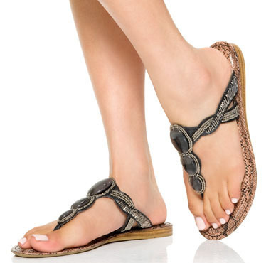 7b7e247fb Ladies Flat Sandals, लेडीज फ्लैट सैंडल, Ladies Formal ...