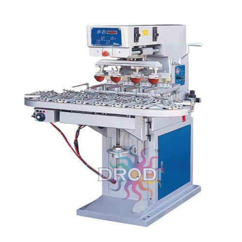 4 Color Pad Printing Machine With Conveyor