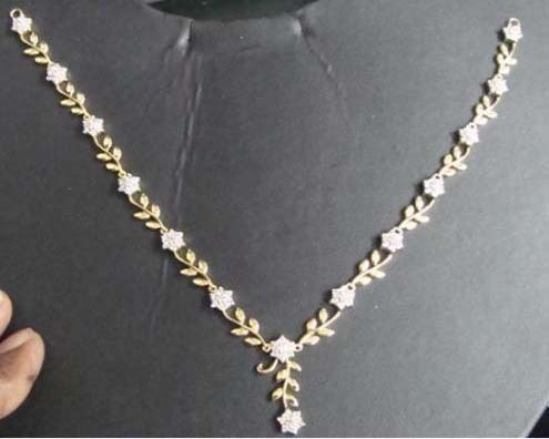 Small diamond necklace at rs 109499 piece diamond necklace id small diamond necklace aloadofball Image collections
