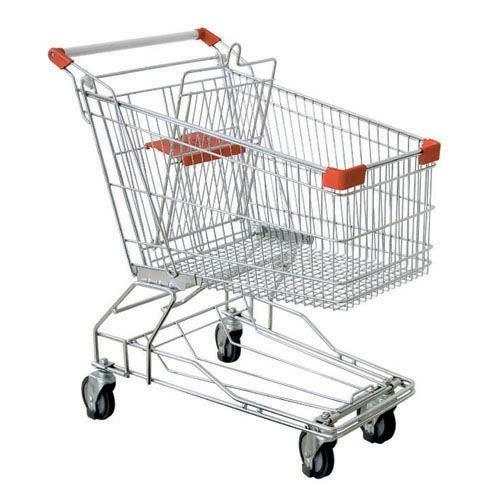 Stainless Steel Asian Type Shopping Trolley