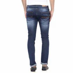 Plain Regular Fit Mens Stretchable Denim Jeans, Waist Size: 28-50 Inch