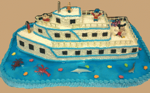 Cruise Shaped Designer Cakes