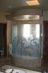 Carved Shower Glass