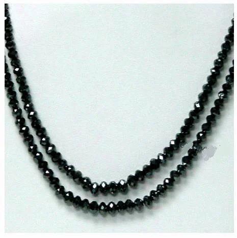 d8c13c5f973 Black Diamond - Amazing 2 Strands Black Diamond 45 cts Beads ...