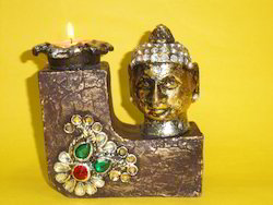 Buddha T Light With Kundan Motif ( CS RHF - 37 )
