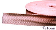 Brown Polyester Herringbone Tape
