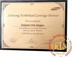 Designer Wooden Certificate