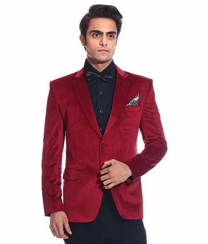 Red Velvet Blazers Men Party Wear 6ce825139