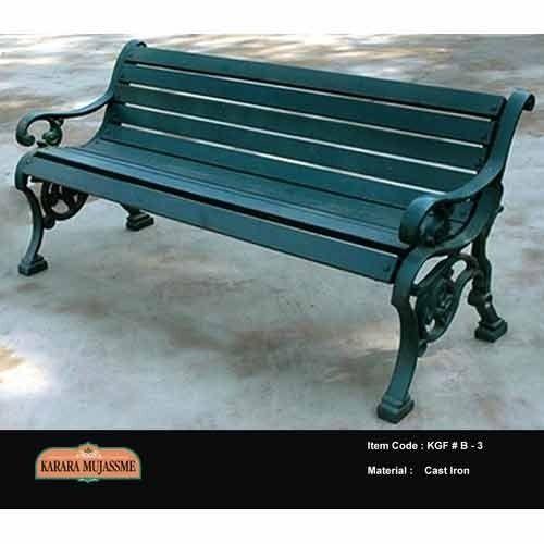 Antique Cast Iron Outdoor Bench Set