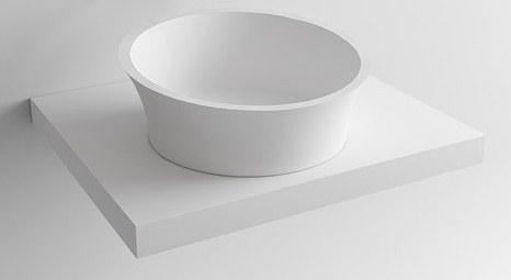 Round Curved Countertop Wash Basin