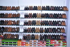 Exhibition Stand Shoes : Modular aluminum display clothes and shoes racker global sources